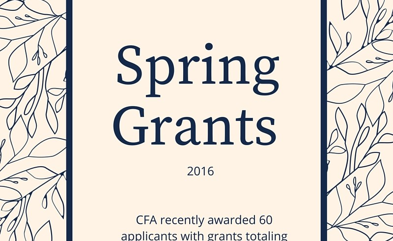 CFA Awards Nearly $130,000 in Grants