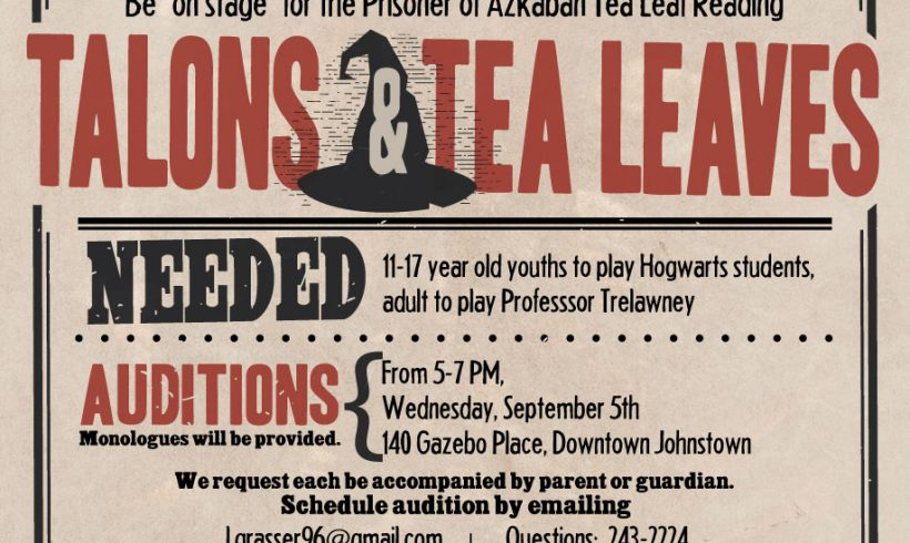 Talons & Tea Leaves AUDITIONS