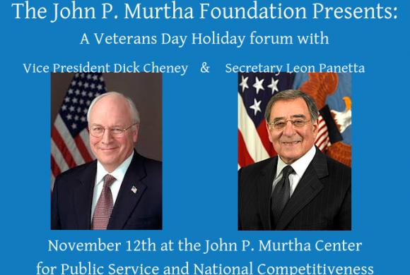 Dick Cheney & Leon Panetta Headline Veterans Day Forum