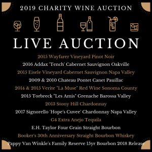 Click for larger view of Wines, Bourbons & Tequila you can win in our Live Auction