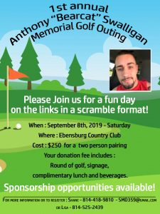 Event to benefit the Anthony Swalligen Memorial Fund at Community Foundation for the Alleghenies