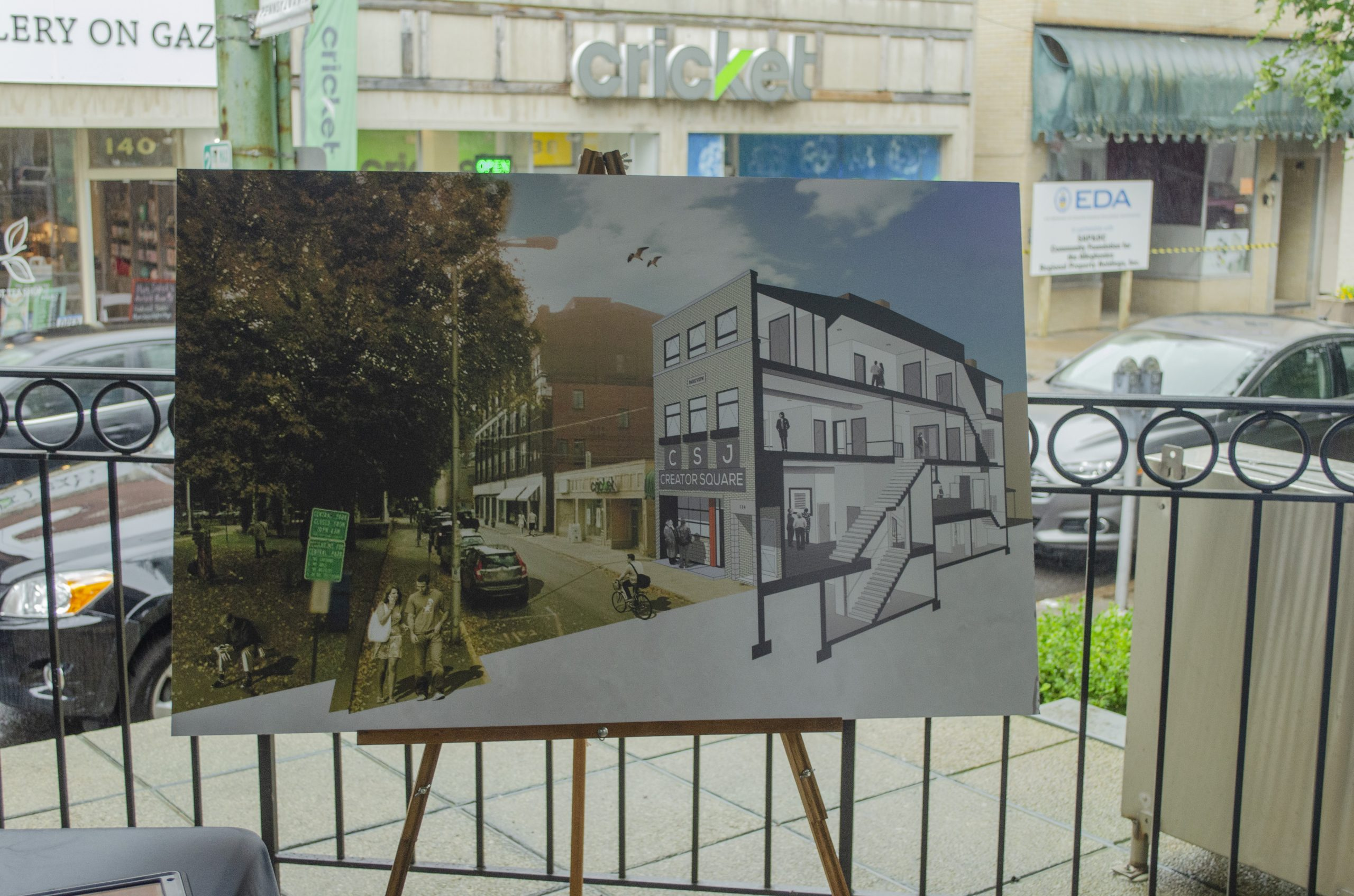 Construction began on Creator Square in Johnstown in summer 2019.